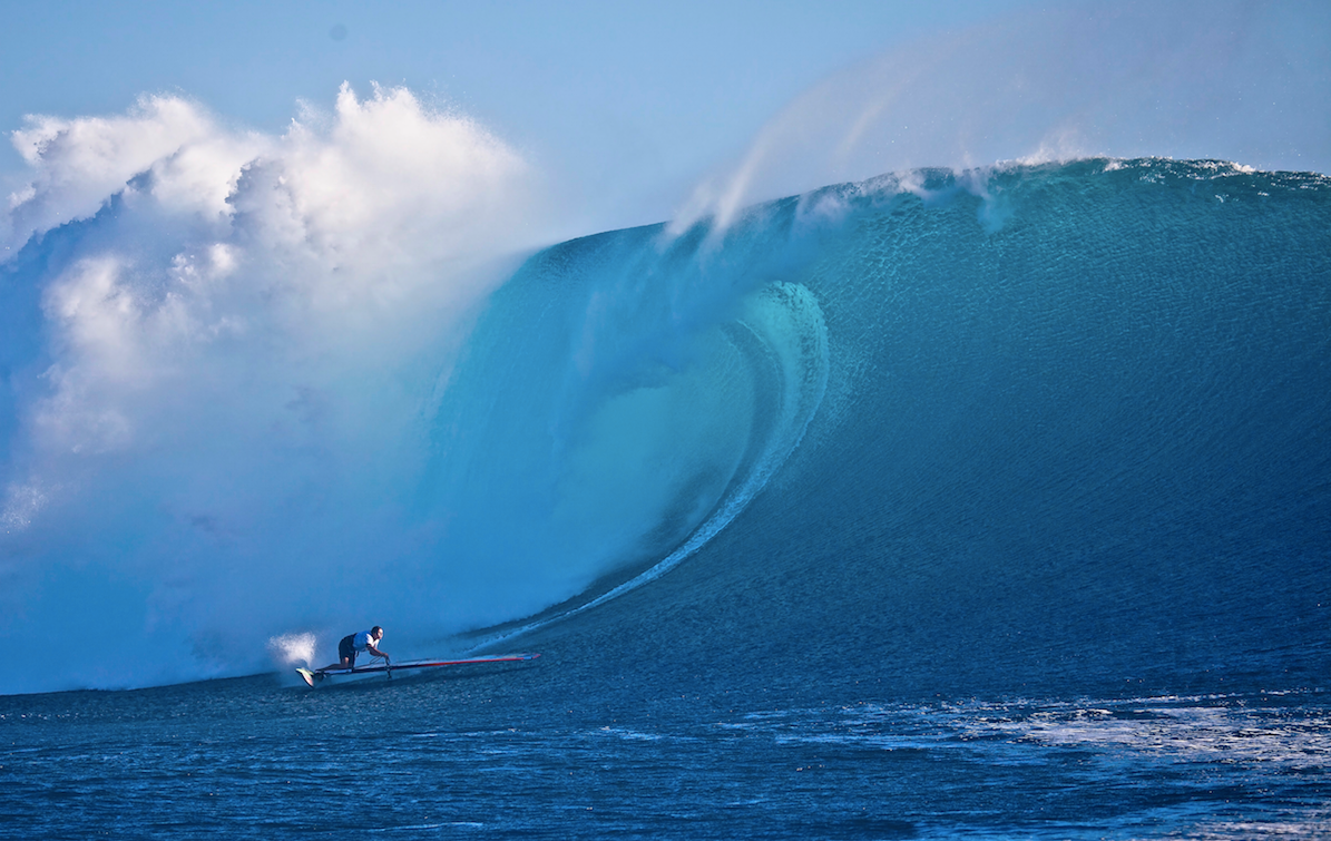 Jason Polakow never seems to be scared of a big wave or two!