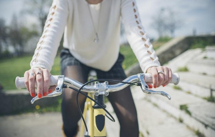 Woman Cycling Commute