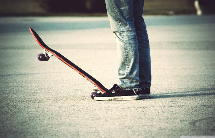 Skateboarder Skate Park