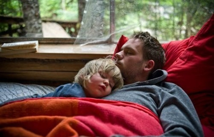 Camping Family Father Son