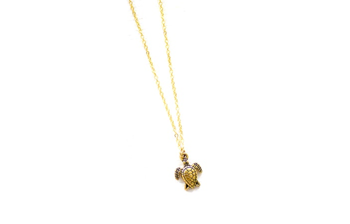 Moon Tide Gold Turtle Necklace