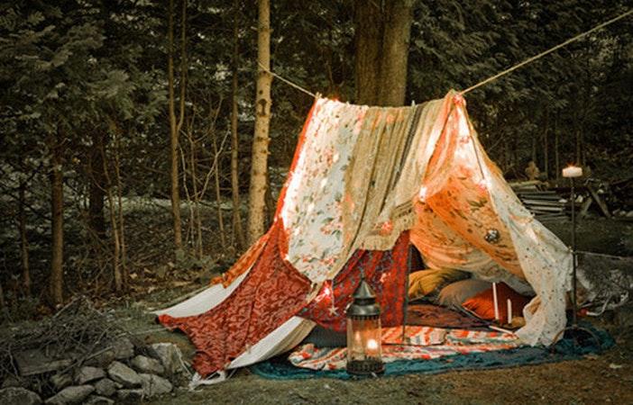Pretty Tent Lights Camping Tumblr