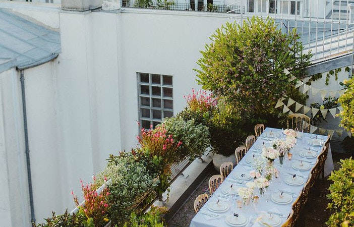urban city rooftop garden
