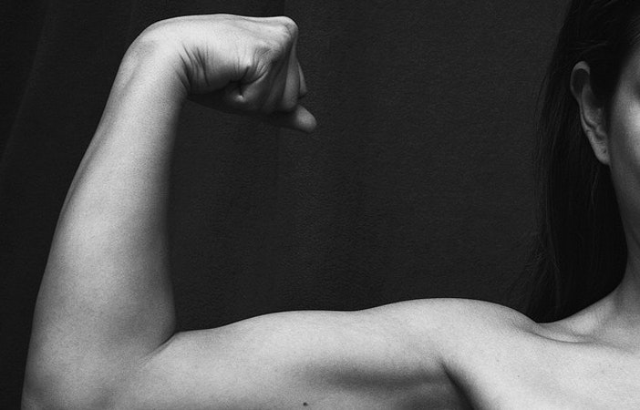 woman strong arms