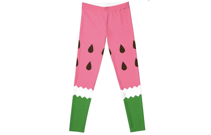 Red Bubble Watermelon Leggings