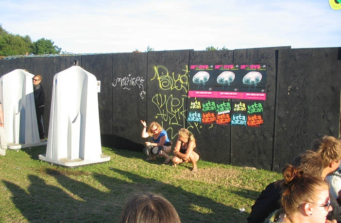 Peeing Outdoor On Music Festival