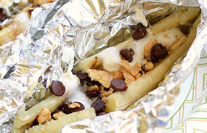 Camping Campfire Recipes Chocolate Banana