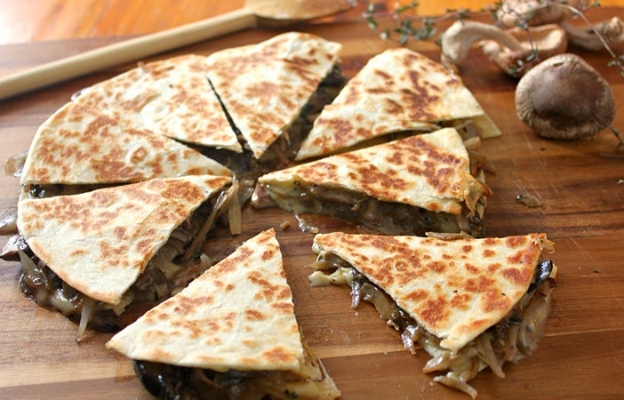 Camping Campfire Recipes Mushroom Sweetcorn Quesadilla