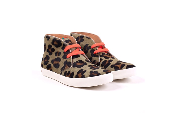 Penelope Chilvers Leopard Jungle Boot Leather