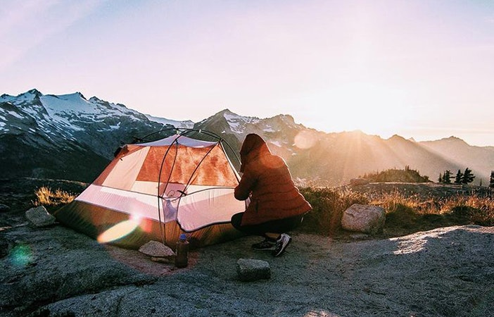 Tent Camping Mountains @BRADLEYCASTANEDA