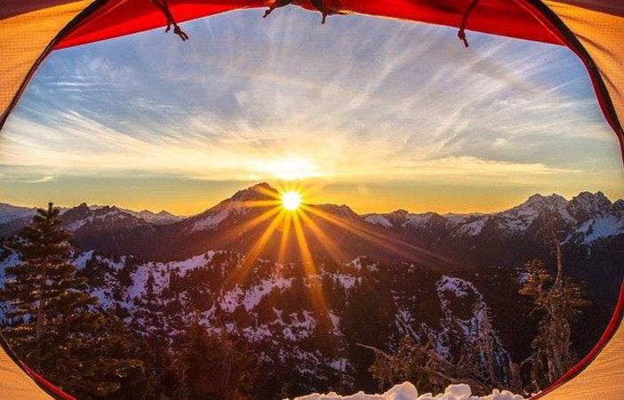 Tent Door View Camping