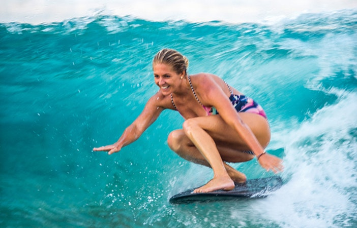 Steph Gilmore Surfing Roxy