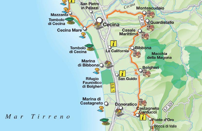 Bolgheri map
