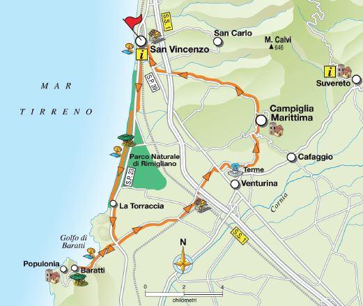 Tuscany Etruscan Coast cycle road bike mountain bike