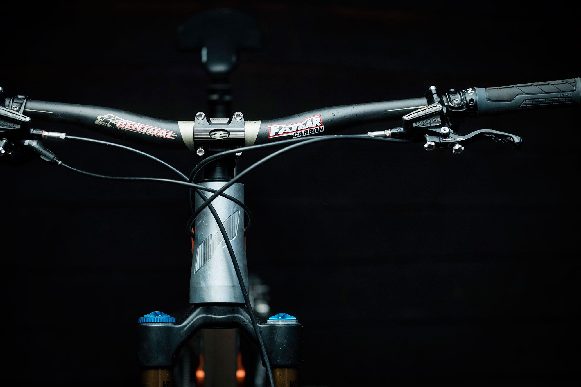 MTB Bike Handlebar 660-760mm Carbon Bar 6//17° 31.8*60-120mm Carbon+AL Stem Matt