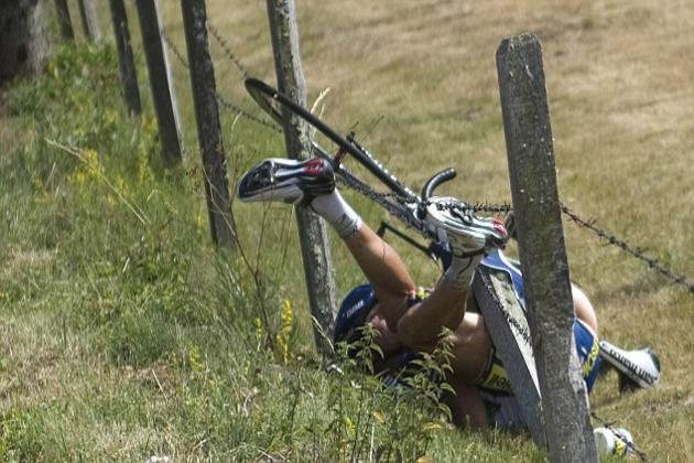 Tour de France crash brutal savage chaos photos photographs 7
