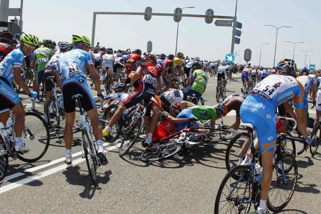 Tour de France crash brutal savage chaos photos photographs 4
