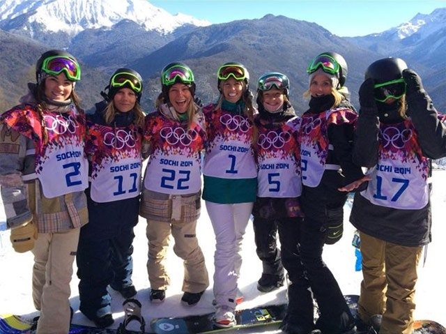 Women's Snowboarders on Torah Bright's Facebook feed