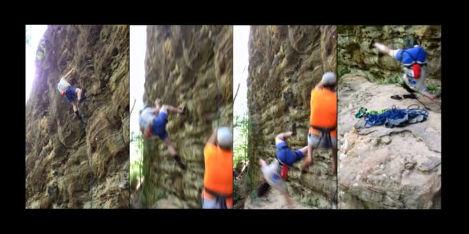 Death rock climber Teenage climbing