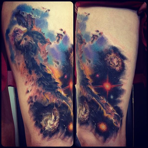 75 Space Inspired Tattoos For People Who Are Fascina Existen momentos que valen la pena recordar toda la vida, con tinta y mi amor por este arte. 75 space inspired tattoos for people