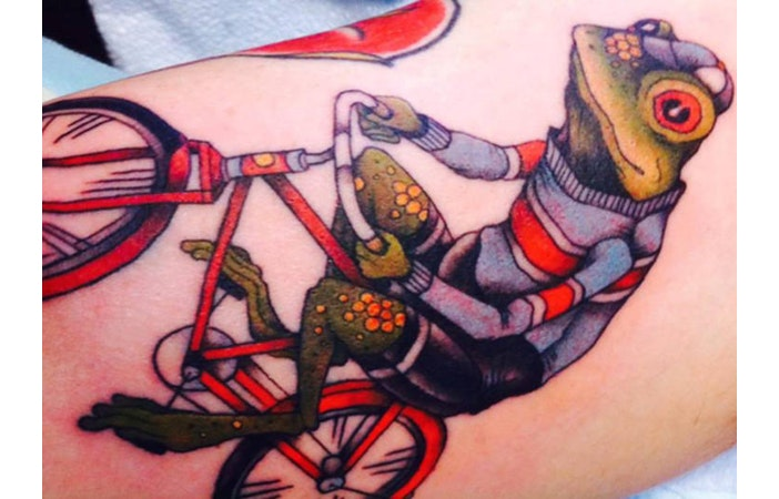 Road Cycling Tattoo Frog danielleturcotte