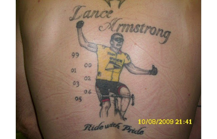 Road Cycling Tattoo Lance Armstrong lastangryfan.com