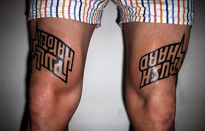 Road Cycling Tattoo Push Hard Push Harder