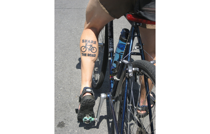 Road Cycling Tattoo Share The Road Inky Beer