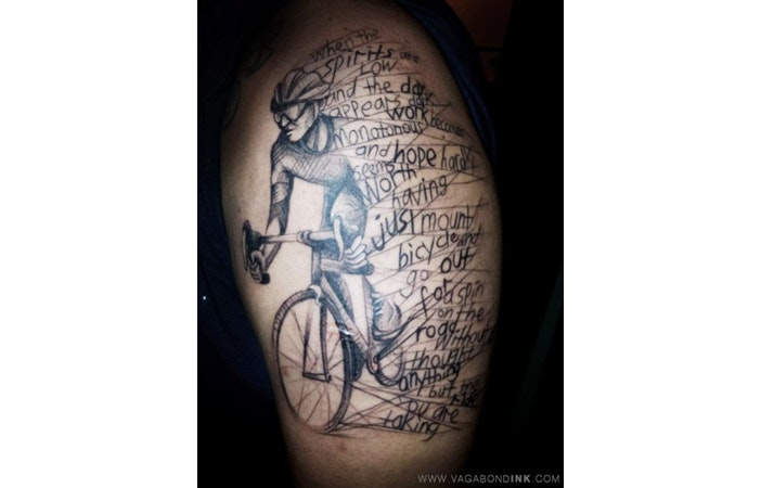 Road Cycling Tattoo Vagabond Ink