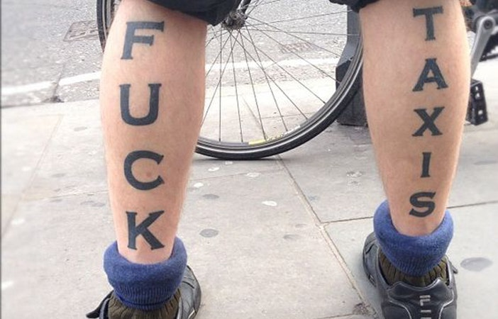 Road Cycling Tattoos Fuck Taxis