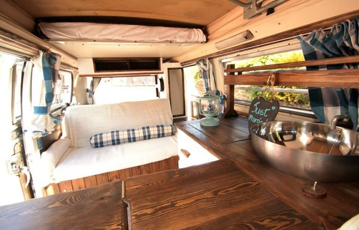 Camper Van Interior Just Married Conversion