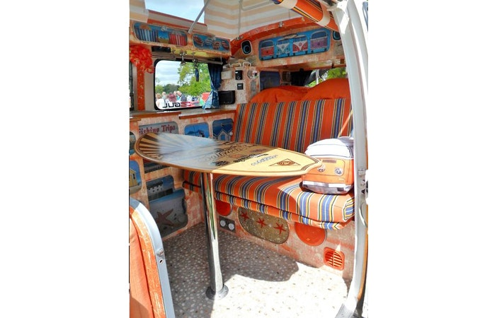 Camper Van Interior VW Crazy Skimboard Table