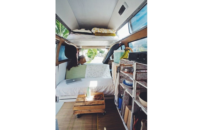 Camper Van Interior Volkswagen Kombi 1971 navigateontrust.com