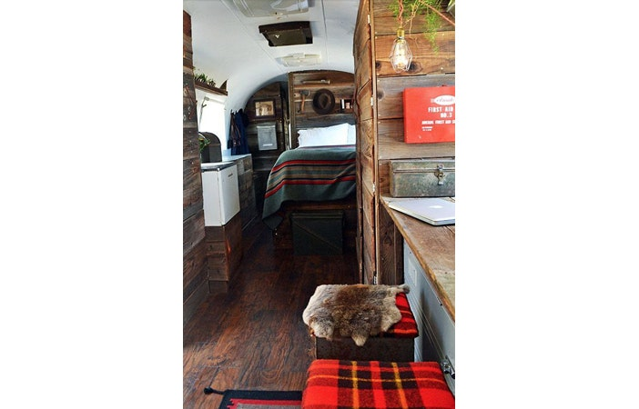 Camper Van Interior Wooden Airstream Get Campie.com