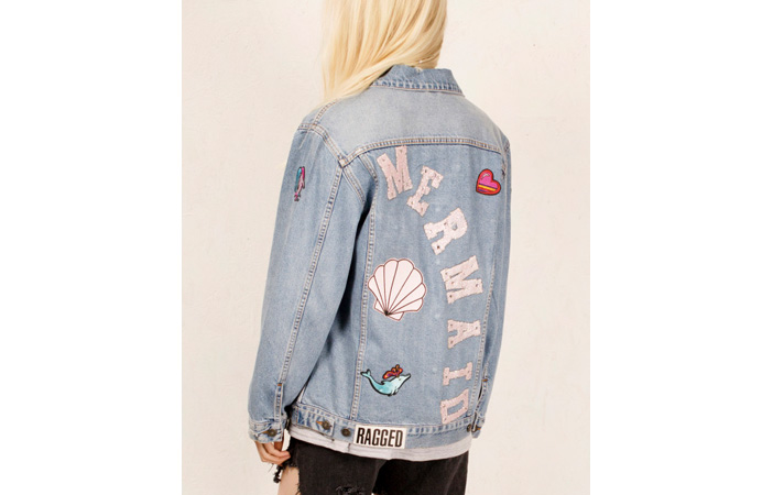 Mermaid Denim Jacket Ragged Priest