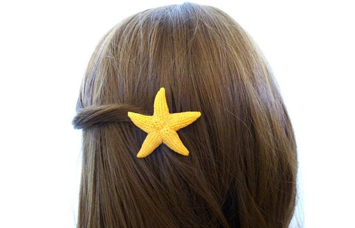 Starfish Mermaid Hair Clip