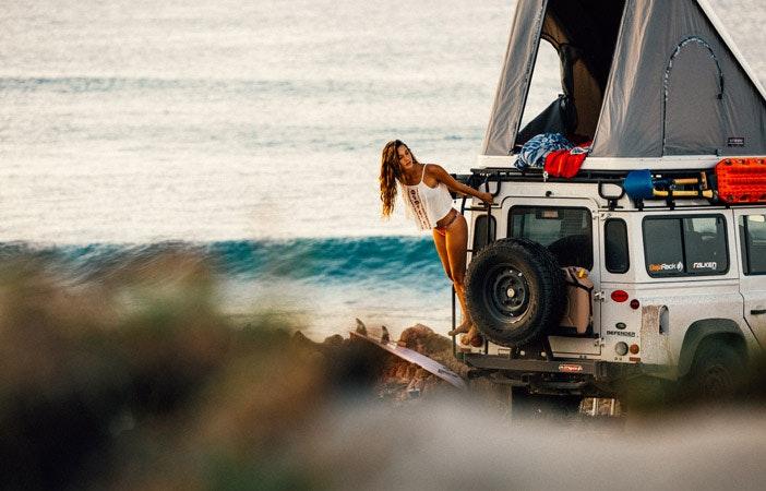 冲浪露营Baja加州Roxy