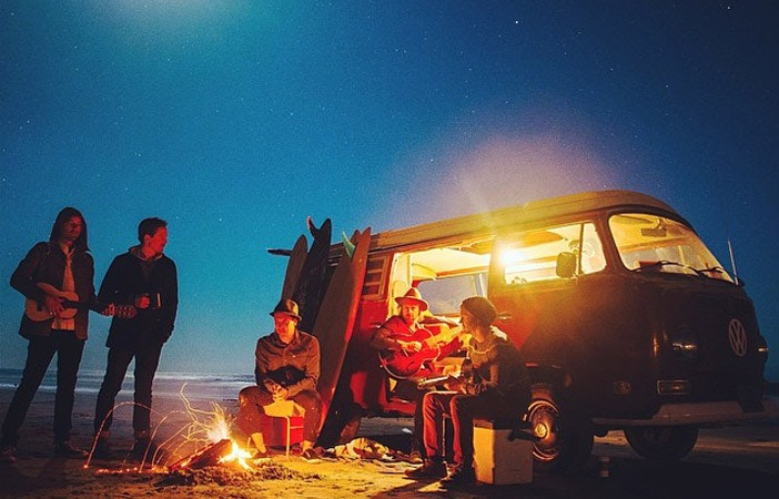 Surfing Camping Chris Burkard
