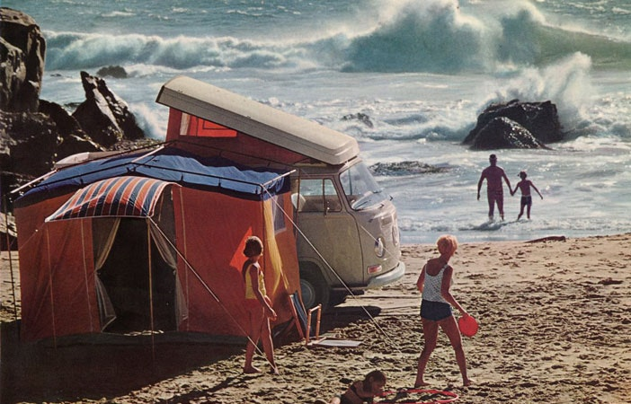 Surfing Camping VW Campervan 1968 Pinterest