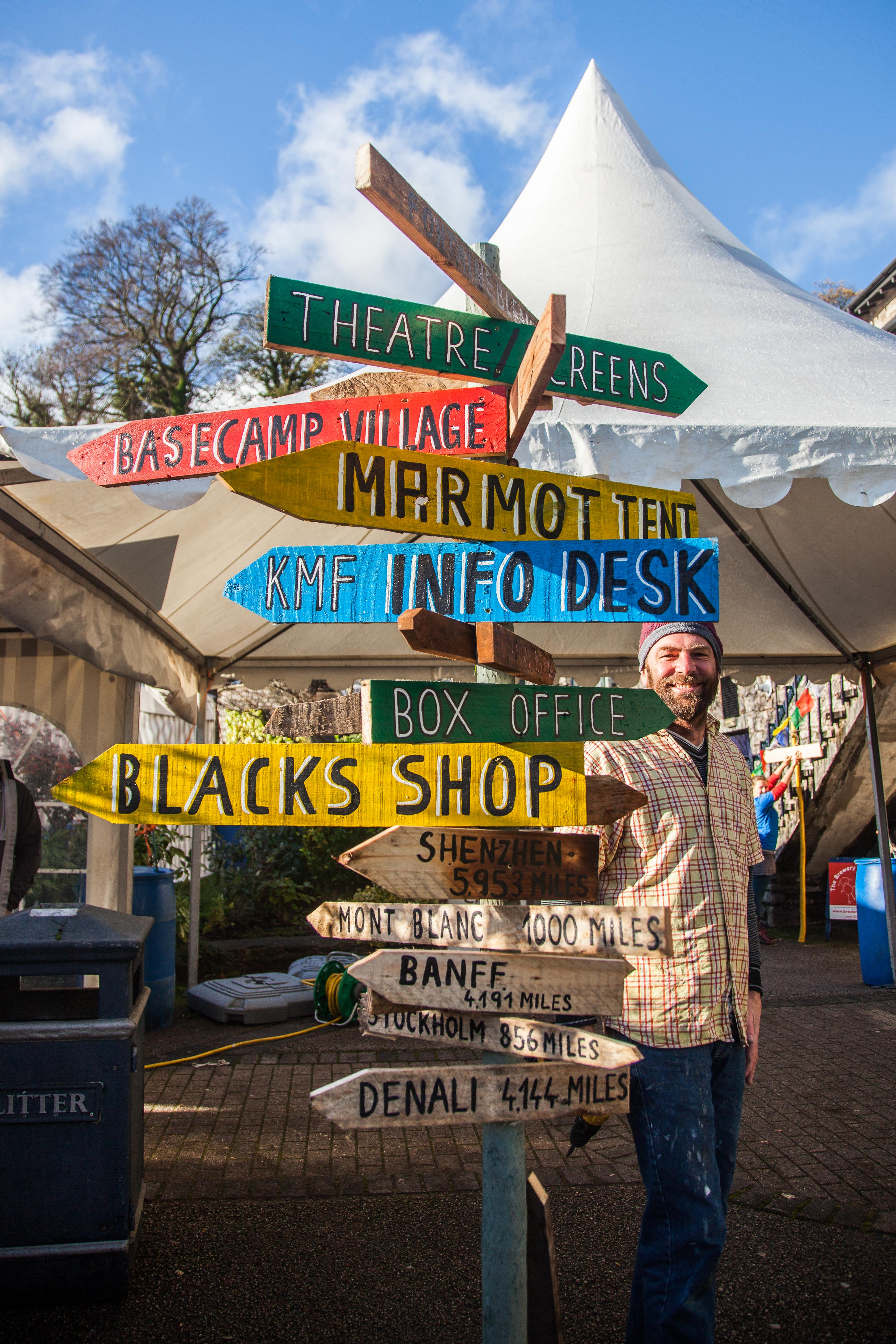 Kendal Mountain Festival 2016 sign posts