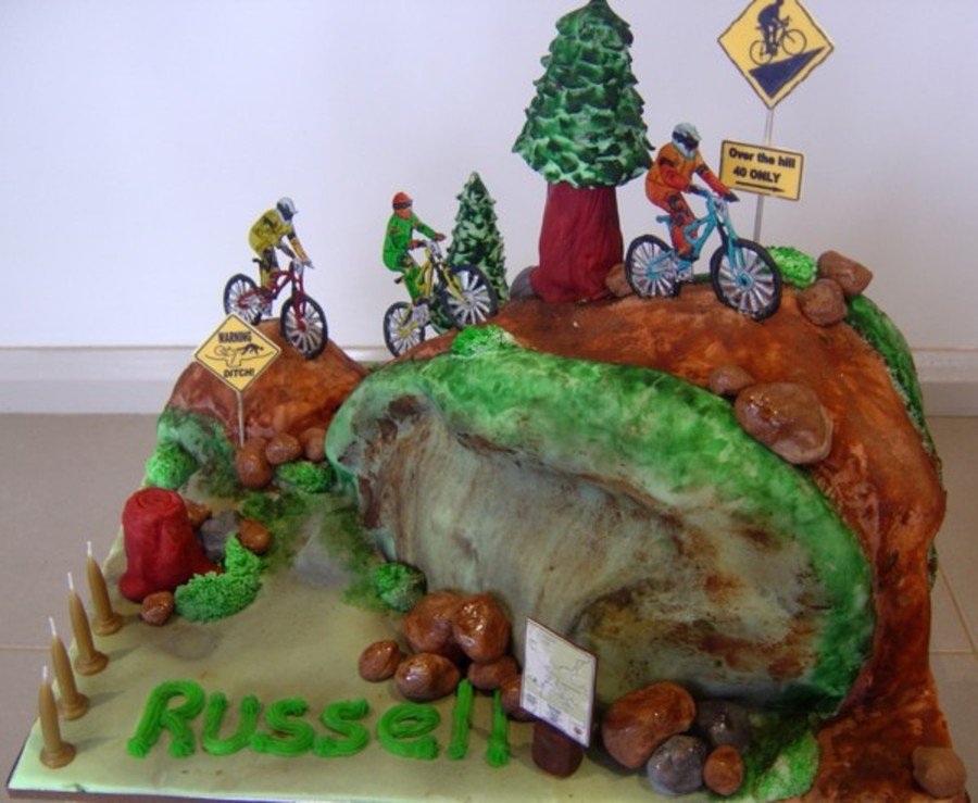 Prime 15 Mountain Biking Cakes Perfect For Those Who Eat Funny Birthday Cards Online Overcheapnameinfo