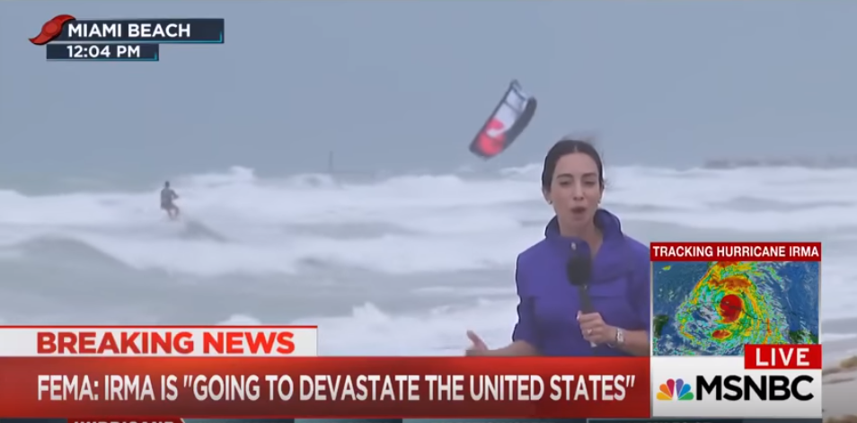 Kiteboarding In Hurricane Irma