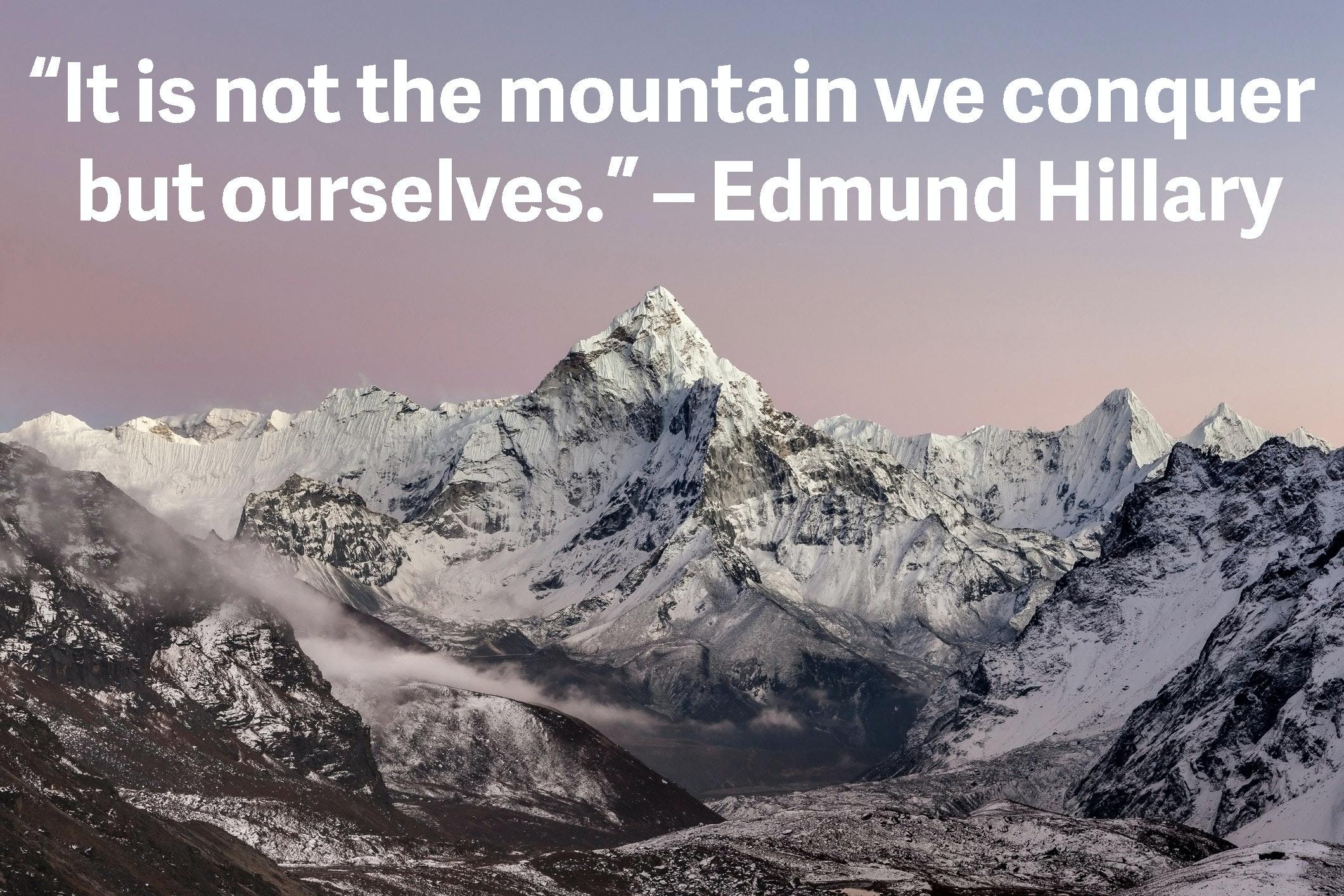 Mountain Quotes Edmund Hillary