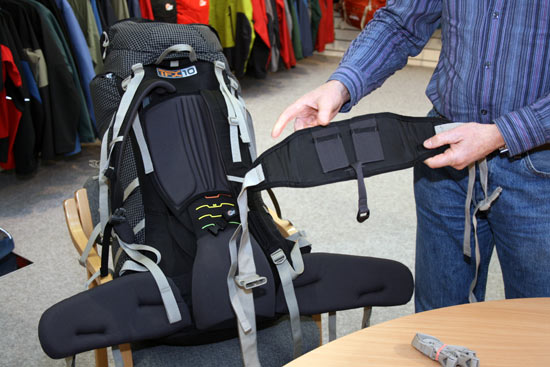 Lowe Alpine TFX Expedition removable hip-belt