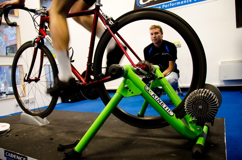 Cadence Retul bike fit - warming up