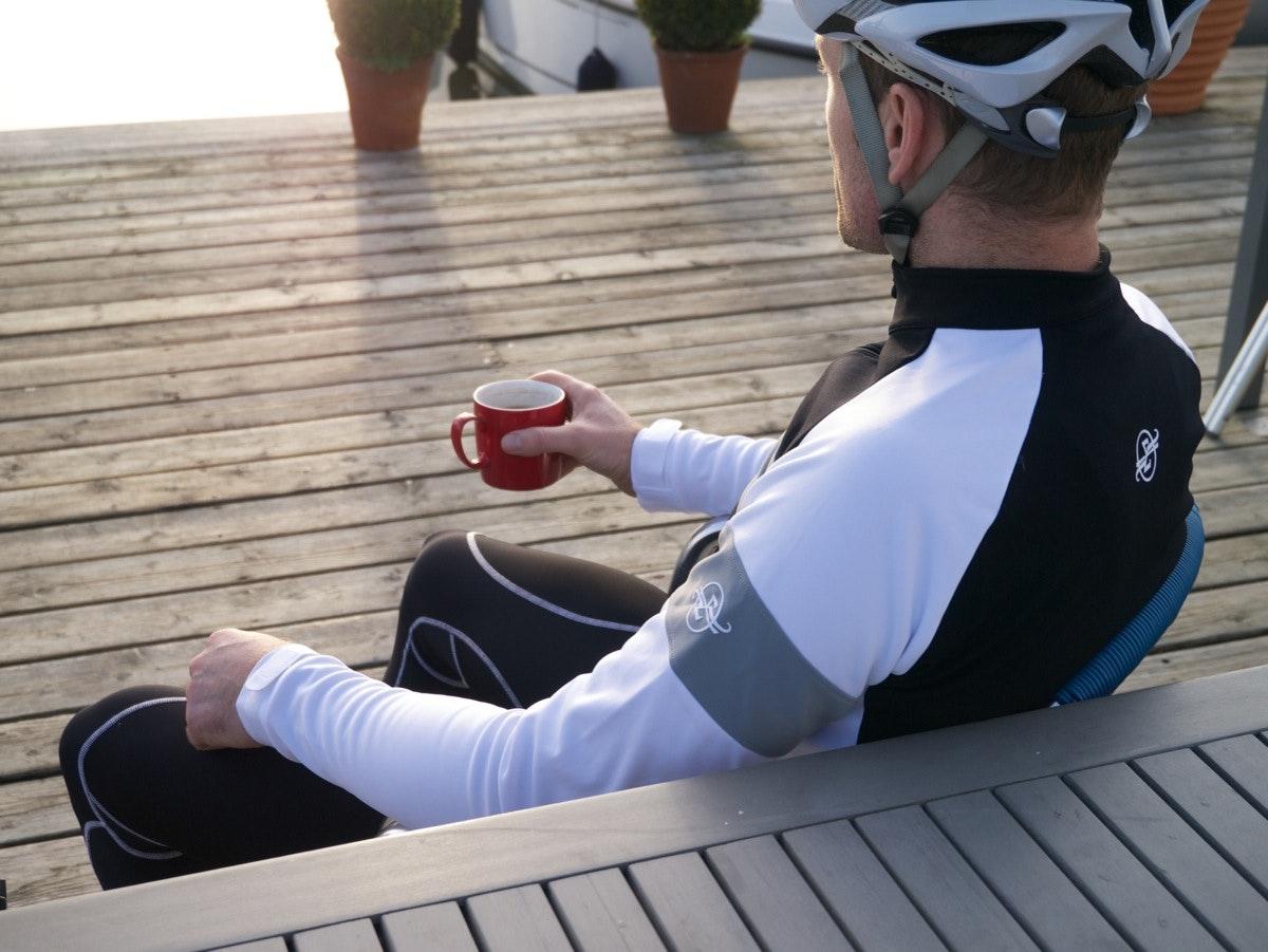 Sumattory winter stripe jacket - cuff, coffee, cafe
