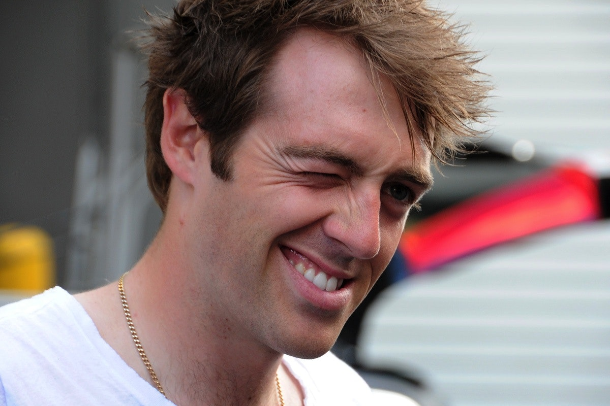 Alex Dowsett, wink, IG London Nocturne 2013, Pic: ©Roz Jones