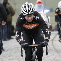 Joanna Rowsell, cobbled Classic, Pic: @Wiggle Honda, submitted by Bart Hazen