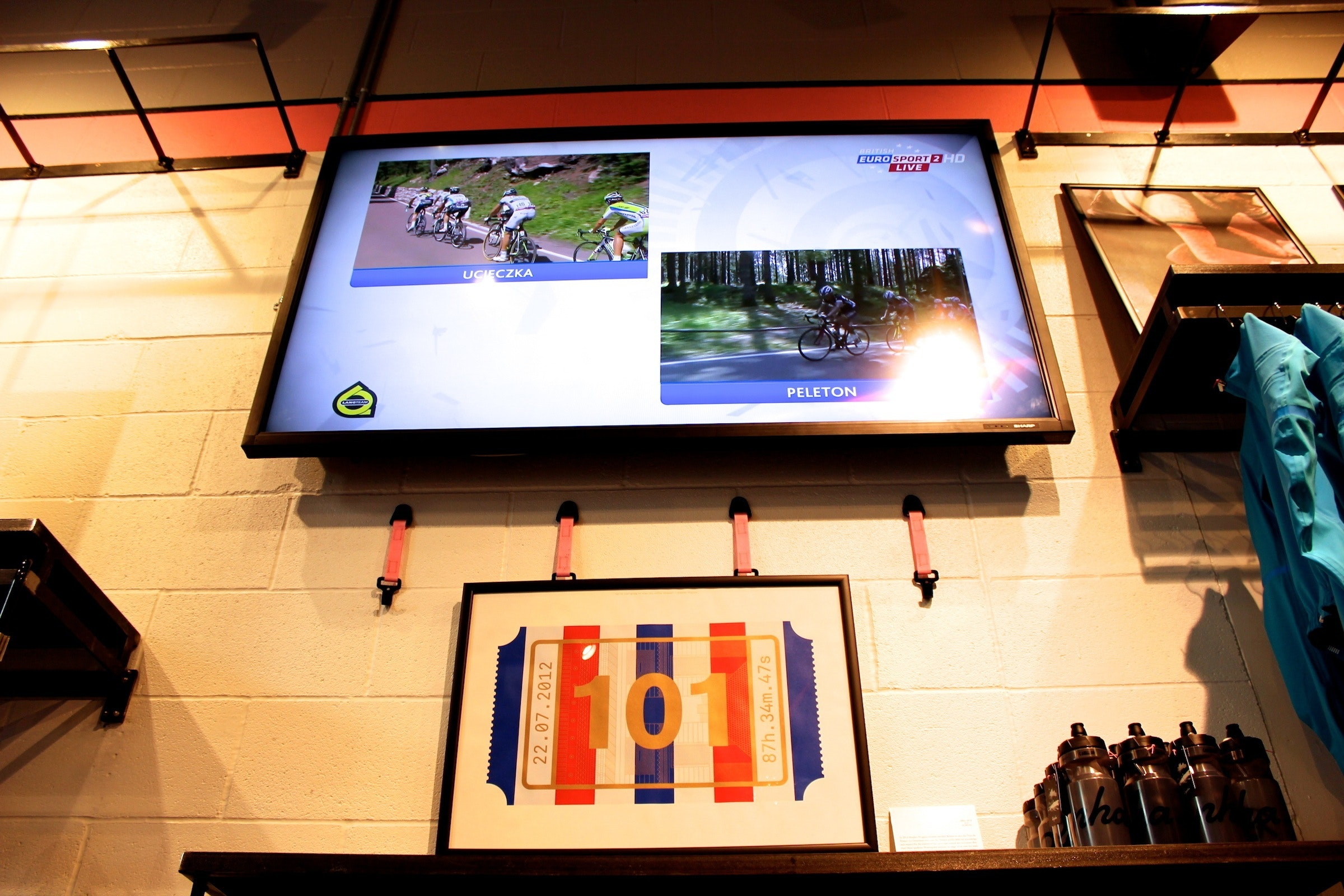 Rapha Cycle Club, London, television, pic: Timothy John, ©Factory Media