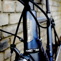 No.22 Bicycle Company, Great Divide, head badge, pic: Peter Lovell, ©Factory Media